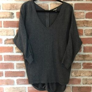 Express sweater with zipper back